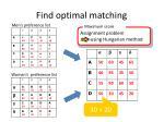 find optimal matching