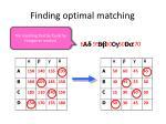 finding optimal matching