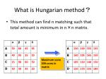 what is hungarian method
