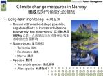 climate change measures in norway