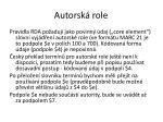 autorsk role