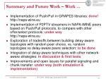 summary and future work work