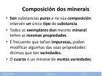 composici n dos minerais