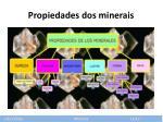propiedades dos minerais