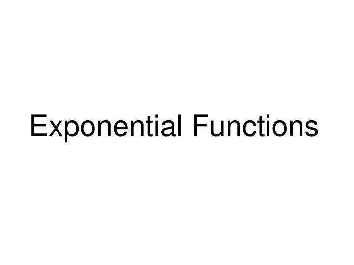exponential functions n.