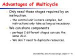 advantages of multicycle