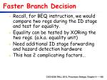faster branch decision