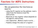 functions for mips instructions