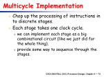 multicycle implementation
