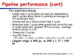 pipeline performance cont