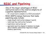 risc and pipelining