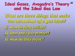 ideal gases avogadro s theory and the ideal gas law