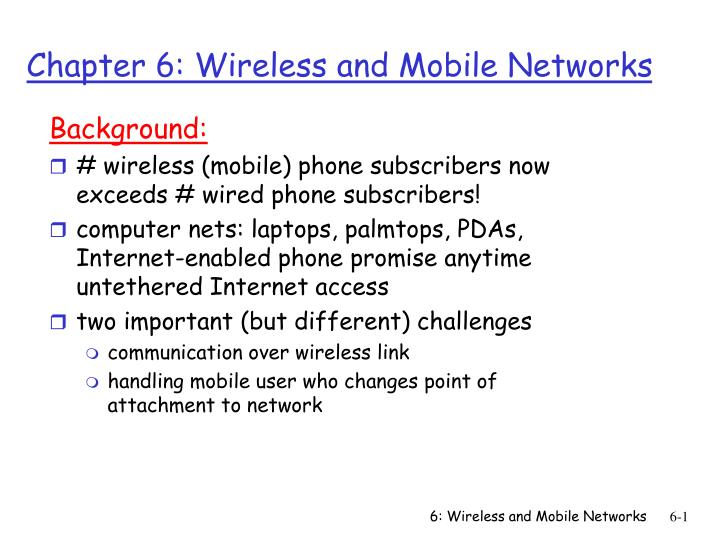 chapter 6 wireless and mobile networks n.