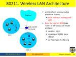 80211 wireless lan architecture