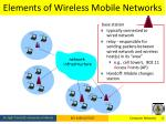 elements of wireless mobile networks