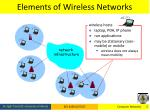 elements of wireless networks