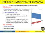 ieee 802 11 mac protocol csma ca