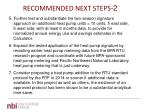 recommended next steps 2