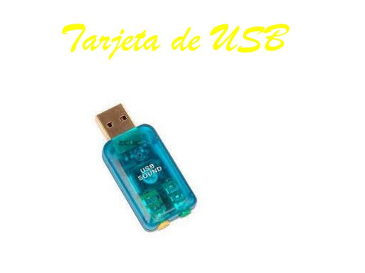 Tarjeta de USB
