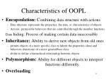 c haracteristics of oopl