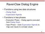 ravenclaw dialog engine