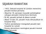 sejarah rawatan