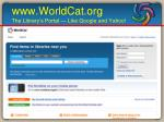 www worldcat org the library s portal like google and yahoo