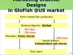 marketing channel designs in glofish @us market