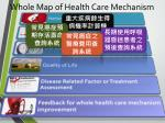 whole map of health care mechanism