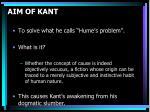 aim of kant