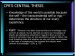 cpr s central thesis