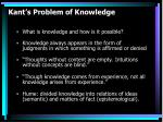 kant s problem of knowledge