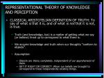 representational theory of knowledge and perception