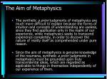 the aim of metaphysics