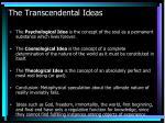 the transcendental ideas