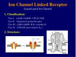 ion channel linked receptor ligand gated ion channel