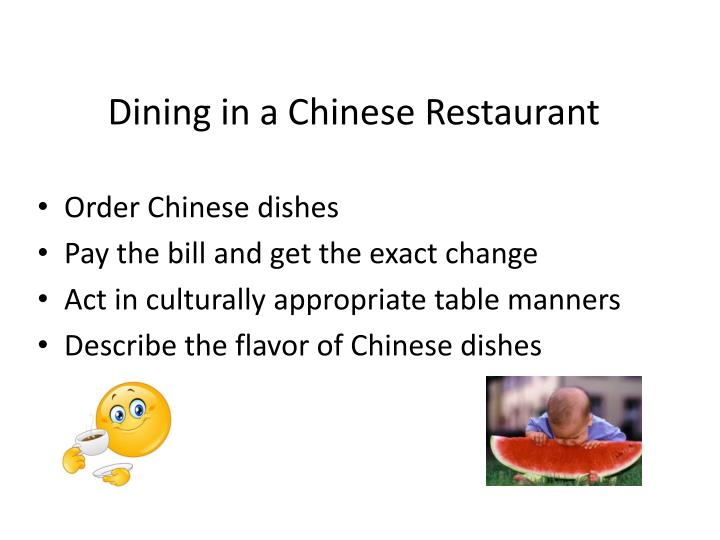 dining in a chinese restaurant n.
