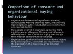 comparison of consumer and organizational buying behaviour