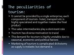 the peculiarities of tourism