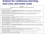 actions for continuous learning b est care and lower costs