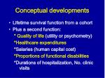 conceptual developments