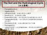 the soil and the hydrological cycle1
