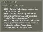 public lands state forest system