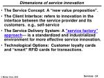 dimensions of service innovation