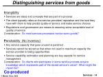 distinguishing services from goods1