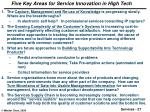 five key areas for service innovation in high tech
