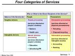 four categories of services