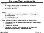 provider client relationship