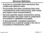 services definition