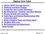 zappos core value